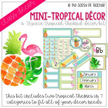 Mini-Tropical Classroom Decor Pack