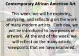 Mini Unit: Contemporary African American Art
