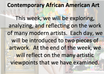 Mini Unit: Contemporary African American Art