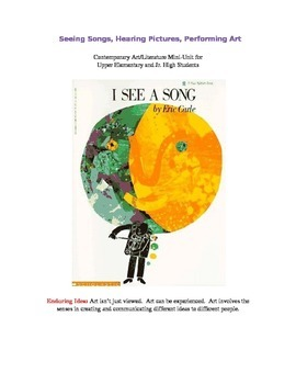 Mini-Unit; Fine Art and Literature using Eric Carle's I See a Song