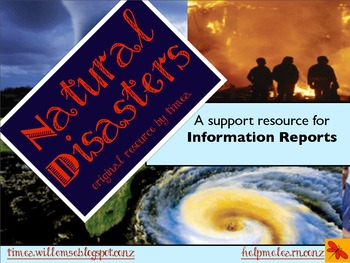 Mini Unit: Natural Disasters / Forces - writing information reports