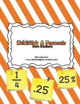 (Mini Unit) Teaching Decimals & Percents from Fractions