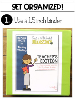 Mini Units for Mastery Binder Covers and Tabs