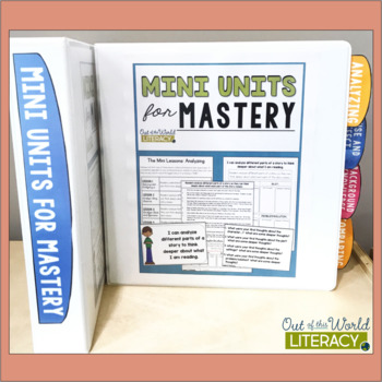 Mini Units for Mastery Binder Tabs