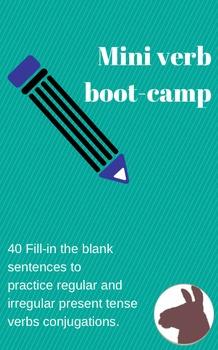 Mini Verb Boot-Camp - Regular and Irregular Conjugation Practice - Spanish