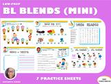 Mini Version: BL Blends Practice Workbook (LOW PREP)