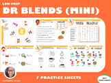 Mini Version: DR Blends Practice Workbook (LOW PREP)
