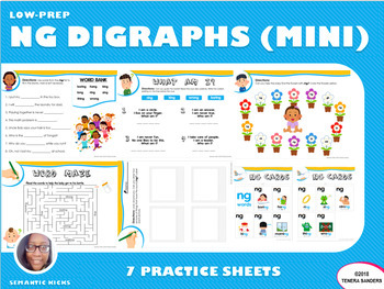 Mini Version: NG Blends Practice Workbook (LOW PREP)