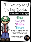 Mini Vocabulary Book Templates- Customized by subject!