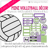 Mini-Volleyball Classroom Decor Pack