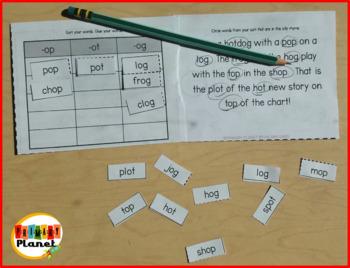 Mini Weekly Word Sort Same Vowel Families