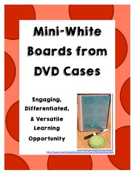 Mini-White Boards from DVD Cases Bundle