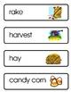 Mini Word Book-Fall Words