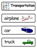 Mini Word Book-Transportation Words