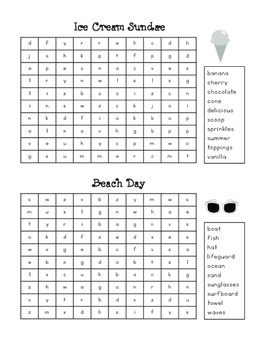 Mini Word Searches - Assorted Topics