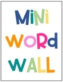 Mini Word Wall