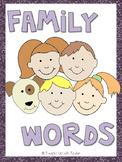 Mini Word Wall - Family Words