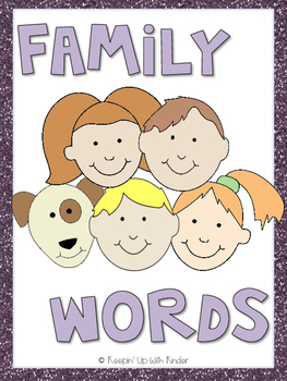 Mini Word Wall - Family Words