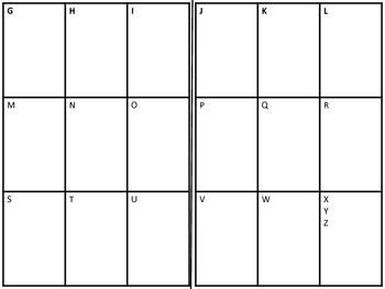 Mini-Word Wall Foldable