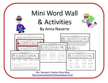 Mini Word Wall & Practice Activities