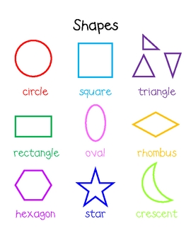 Mini Word Wall - Shapes