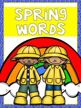 Mini Word Wall - Spring Words