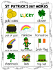 Mini Word Wall - St. Patrick's Day Themed