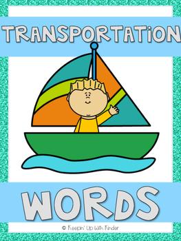 Mini Word Wall - Transportation Themed