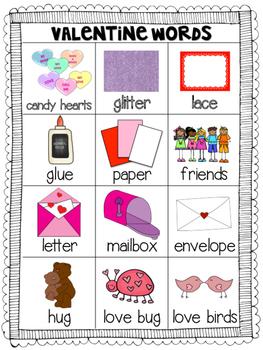 Mini Word Wall - Valentine Theme Words