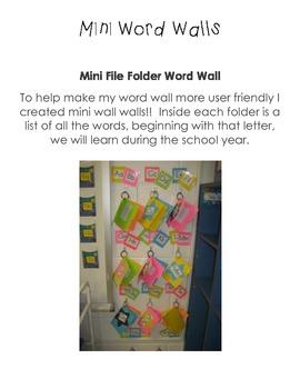 Mini Word Wall Word Kit