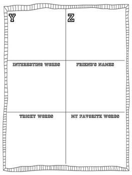 Mini Word Wall Writing Resource