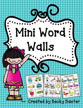 Mini Word Walls!