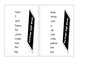 Mini Word Walls Dolch Sight Words