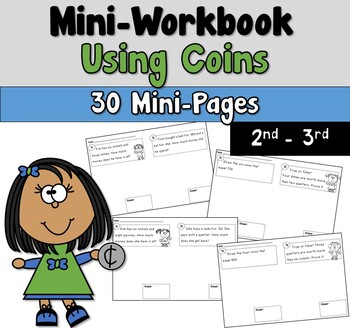 Mini Workbook Using Coins Word Problems