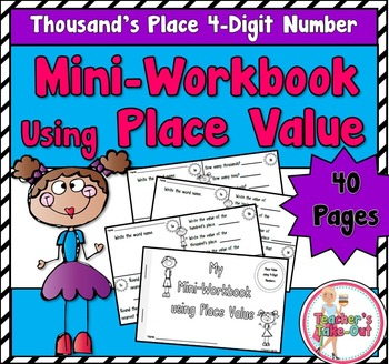 Mini Workbook Using Place Value with 4-Digit Numbers