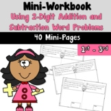 Mini Workbook Using Word Problems with 2-Digit Addition and Subtraction