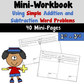 Mini Workbook Using Word Problems with Simple Addition and