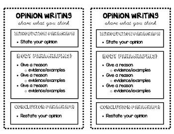 Mini Writing Anchor Charts