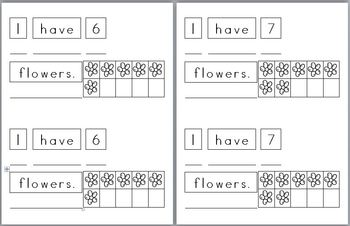 Mini Writing Book: Base 10 Flowers! (4 differentiated writing versions)