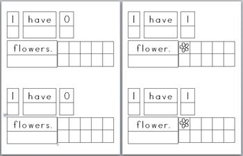 Mini Writing Book: Base 10 Flowers! (4 differentiated writ