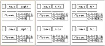 Mini Writing Book: Base Ten Flowers! (4 differentiated writing versions)