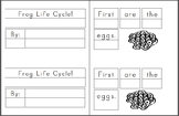 Mini Writing Book: Frog Life Cycle! Sequenced Vocab (4 differentiated versions)