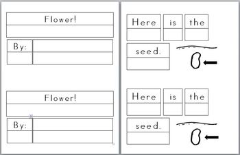 Mini Writing Book: (Parts of a) Flower! (4 differentiated
