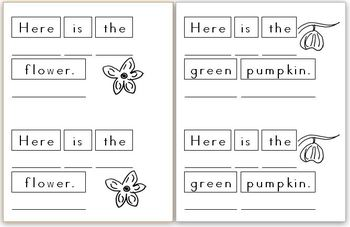 Mini Writing Book: Pumpkins! (4 differentiated versions)
