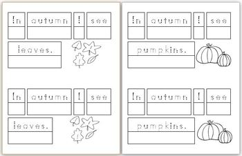 Mini Writing Book: Signs of Autumn! (4 differentiated versions)