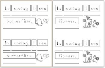 Mini Writing Book: Signs of Spring! (4 differentiated versions)