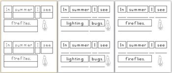 Mini Writing Book: Signs of Summer! (4 differentiated versions)