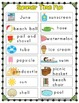 Mini Writing Center Add On for June -Writing prompts, grammar/phonics task cards