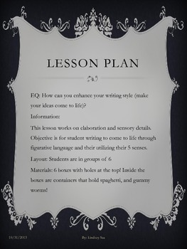 Mini Writing Lesson that Enhances Style and Details!