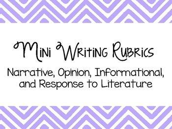 Mini Writing Rubrics